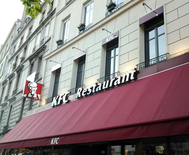 KFC Paris Enseignes lumineuses