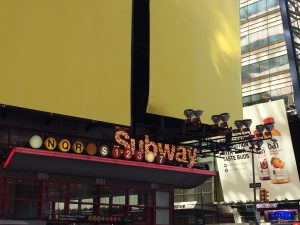 Enseigne Subway Times Square