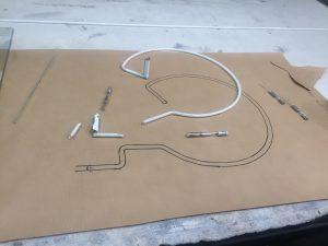Travail à plat de la forme du tube