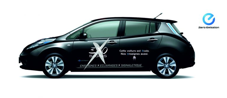 Nissan Leaf par Exo Signs
