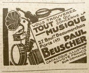 Pub Peaul Beuscher 1929