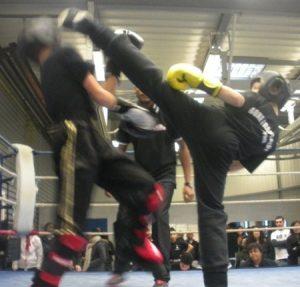 Combat boxe francaise