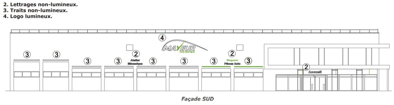 Facade Sud Mayeur Car Service