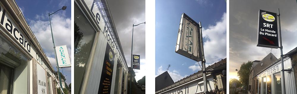 Exemple de rénovation /relamping des enseignes par Exo Signs