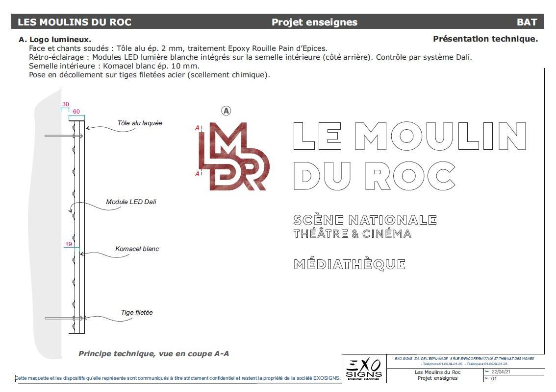 Logo Lumineux Moulin du Roc