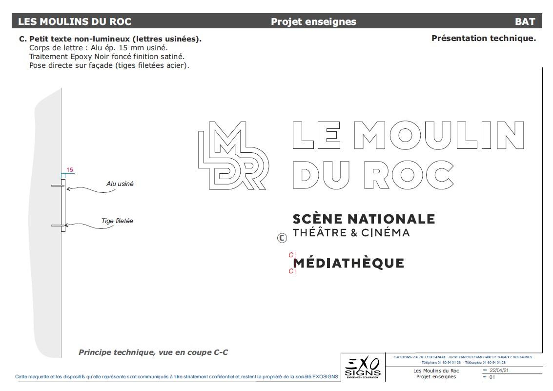 Petit texte non lumineux Le Moulin du Roc