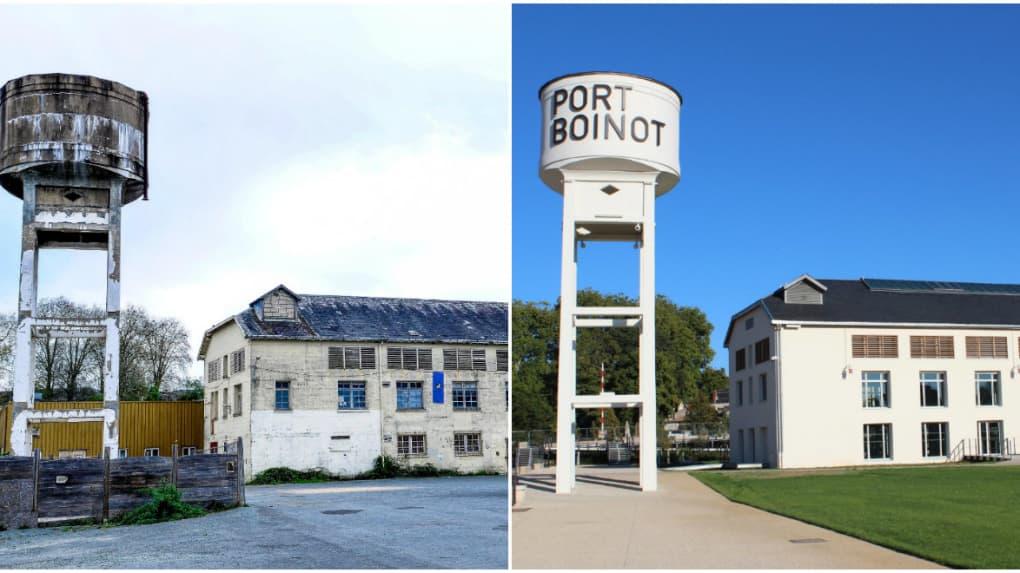 Port Boinot avant/après
