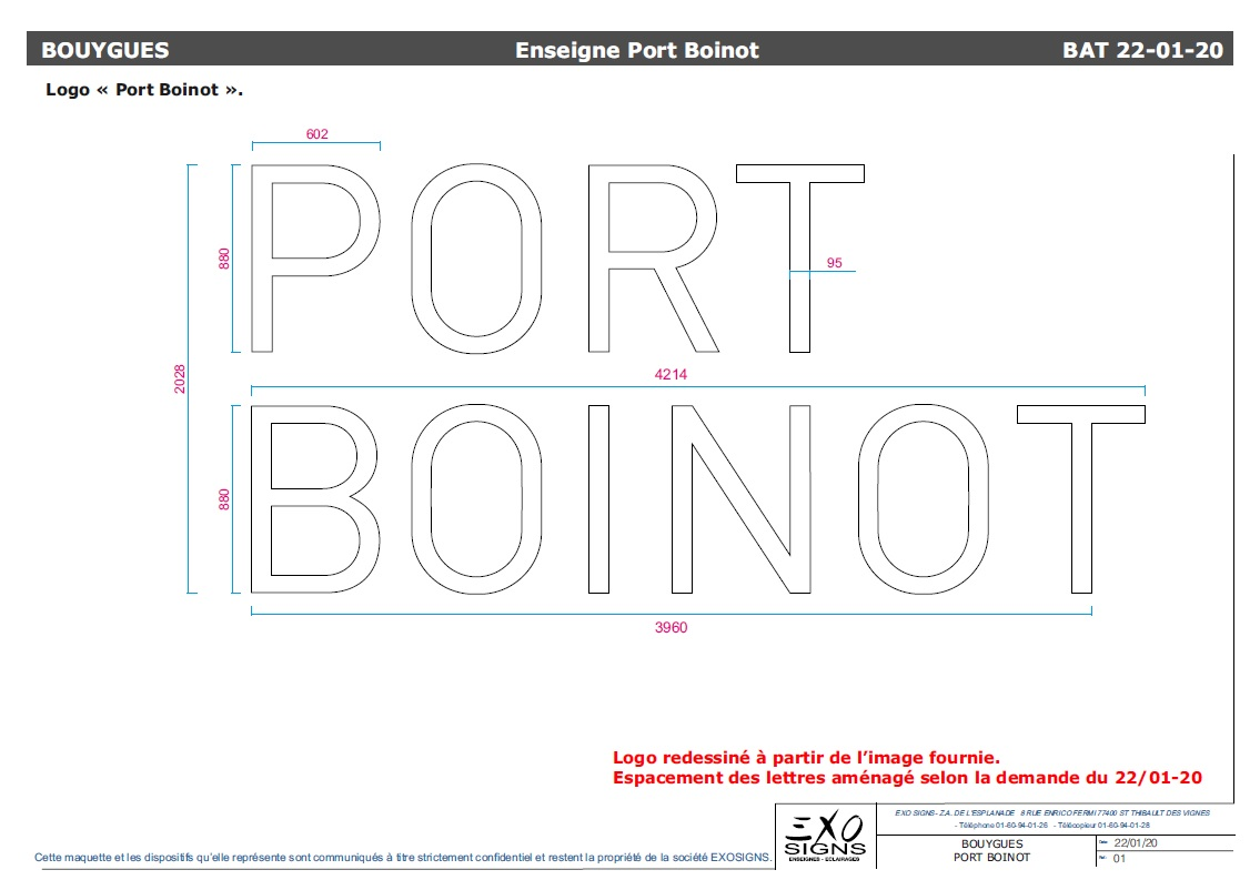 Logo Port Boinot Fabrication Exo Signs